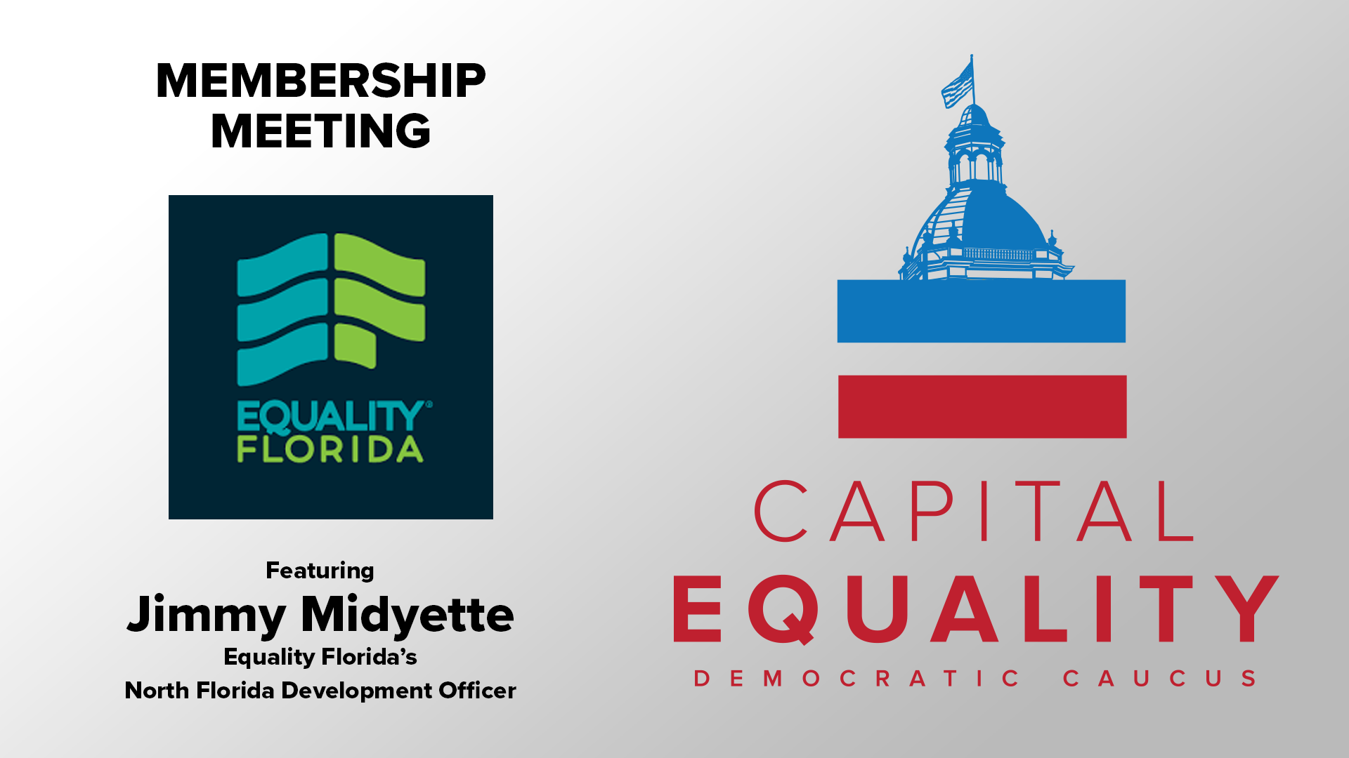 Virtual Meeting with Equality Florida's Jimmy Midyette